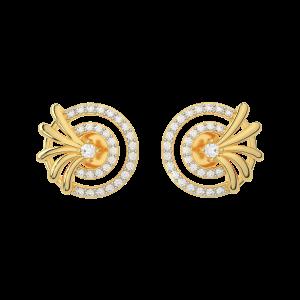 The Stardom Gold Diamond Earrings