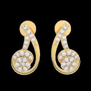The Trendy Gold Diamond Earrings
