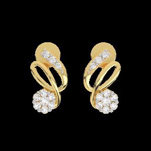 The Floralbeat Gold Diamond Earrings