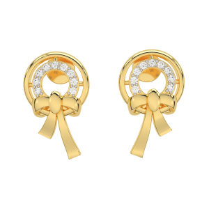 The Knotted Gold Diamond Earrings