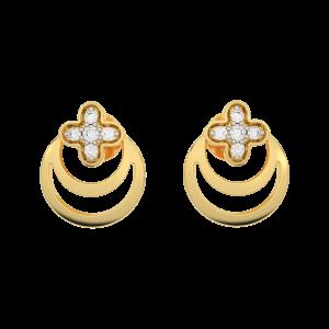 The Clover Gold Diamond Earrings