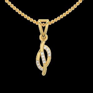 Golden Blush Gold Diamond Pendant
