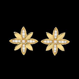 The Daisy Gold Diamond Earrings