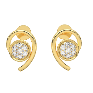 The Magical Gold Diamond Earrings