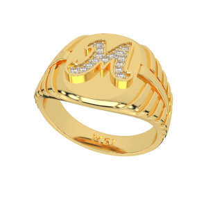Customize Your Name Gold Diamond Ring For Him