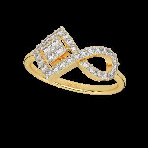 Refined Infinity Gold Diamond Ring