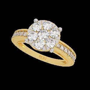 The Love Pattern Gold Diamond Ring