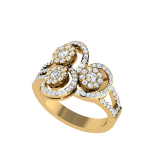 The Cluster Bloom Designer Diamond Ring