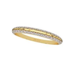 Bold N Sleek Gold Diamond Ring