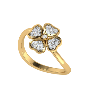 The Twist N Trend Floral Diamond Ring