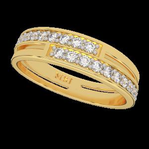 Love Ripples Half Eternity Diamond Ring