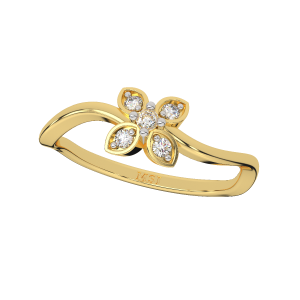 The Ethereal Flower Diamond Ring