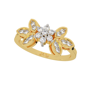 The Happy Moments Floral Diamond Ring