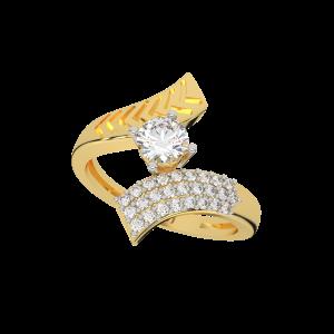 The Arrows Flight Gold Diamond Ring