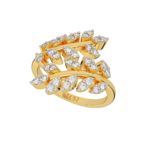 Floral Showtime Diamond Ring
