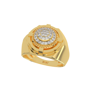 The Rugged Gold Diamond Mens Ring