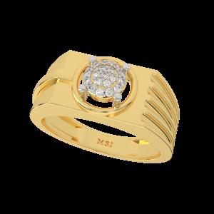 The Gentleman Gold Diamond Mens Ring