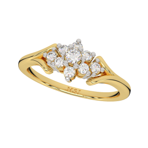 The Floral Finesse Gold Diamond Ring