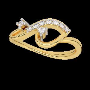 The Loop N Heart Gold Diamond Ring