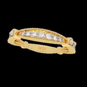 The Glitter Band Gold Diamond Ring