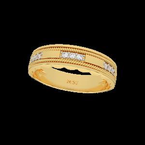 The Golden Lanes Gold Diamond Ring