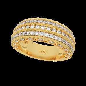The Diamond Patterns Gold Diamond Ring