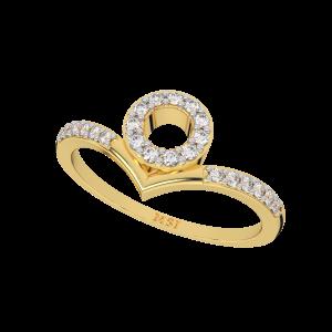 Loop N Lace Gold Diamond Ring