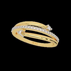 The Cross Dealing Gold Diamond Ring