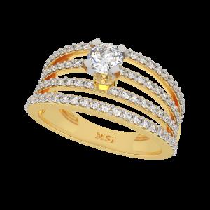 The Pride Solitaire Gold Diamond Ring