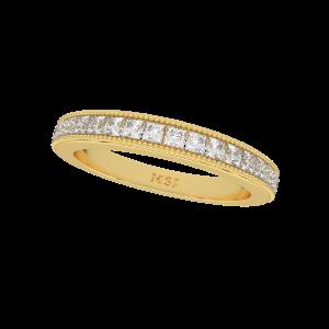The Shimmer Saga Gold Diamond Ring