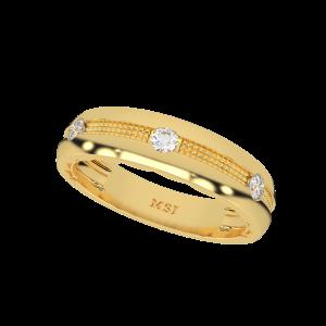 Cool Hues Gold Diamond Ring