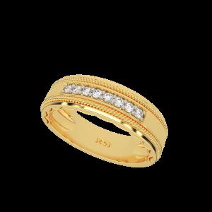 The Bang Band Gold Diamond Ring