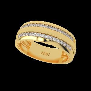 The Half Eternity Gold Diamond Ring