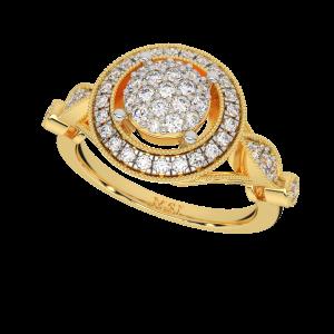The Solitaire Saga Gold Diamond Ring