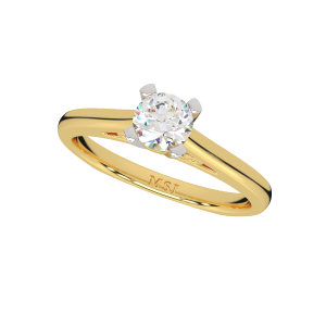 The Glow Solitaire Gold Diamond Solitaire Ring
