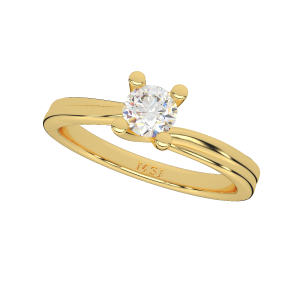 The Solitaire Sparkle Gold Diamond Solitaire Ring