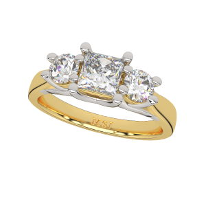 Bunch Of Solitaires Gold Diamond Ring