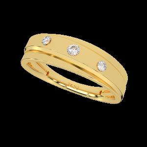 Lovely Dots Gold Diamond Ring
