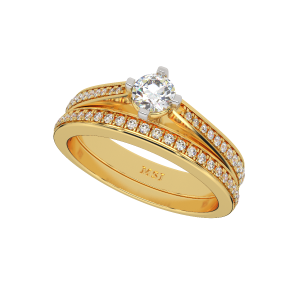 The Vibrant Solitaire Gold Diamond Solitaire Ring
