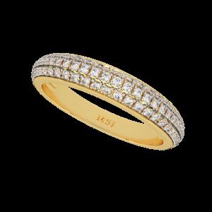 The Half Eternity Glitter Gold Diamond Ring