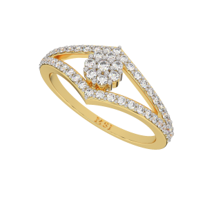The Dream Pattern Gold Diamond Ring