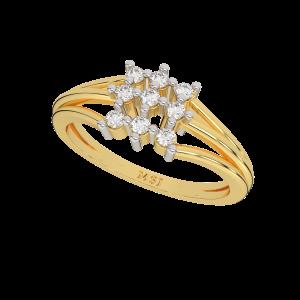 The Diamonds Spectrum Gold Diamond Ring