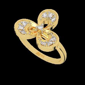 Dashing Petals Gold Diamond Ring