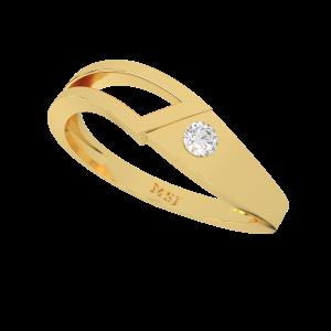 The Wonder Flow Gold Diamond Ring