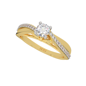 The Slim Solitaire Gold Diamond Solitaire Ring