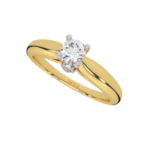 The Solitaire Sheen Gold Diamond Solitaire Ring
