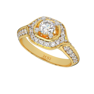 The Solitaire Blush Gold Diamond Solitaire Ring