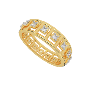 The Glory Track Gold Diamond Eternity Ring