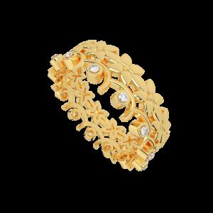 The French Garden Gold Diamond Eternity Ring