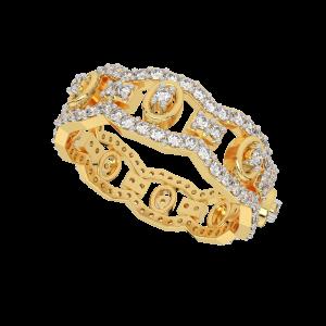 The Hues Parade Gold Diamond Eternity Ring